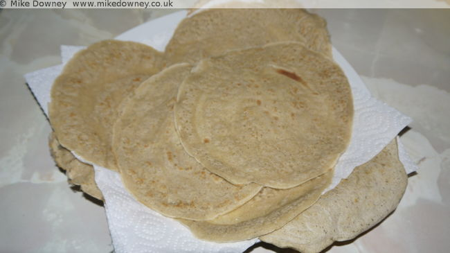 the cooked flatbreads